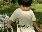 とらの子供用手描きTシャツ