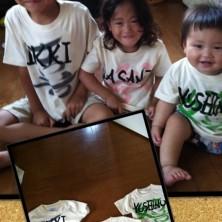 子どもたちはとても喜んでいた!筆文字Tシャツ