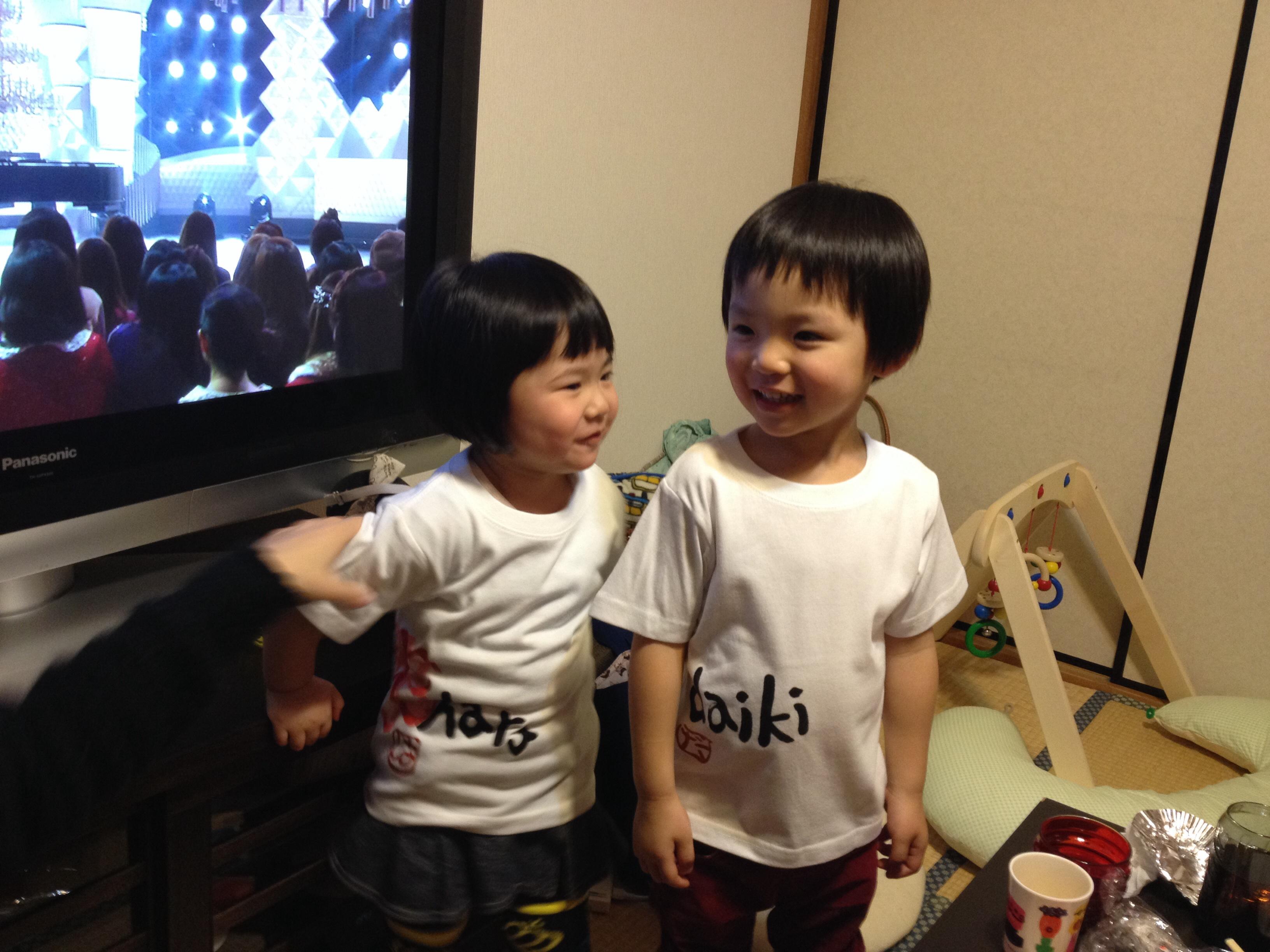 手描き名前tシャツ2枚